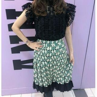 アナスイ(ANNA SUI)の新品 未使用 タグ付 アナスイ 2020 プリーツ スカート  サイズ2(ひざ丈スカート)