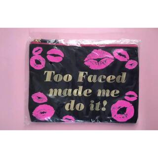 トゥフェイス(Too Faced)の新品未使用⭐︎Too Faced コスメポーチ 非売品トゥーフェイスド(ポーチ)