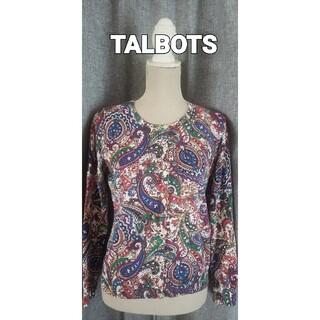 タルボット(TALBOTS)の大変美品 TALBOTS  M~  綺麗なコットンカーディガン ベーズリー(カーディガン)