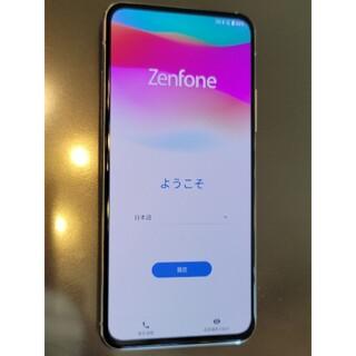 エイスース(ASUS)の【新品同様】zenfone7 8G/128G ホワイト SIMフリー 技適有り(スマートフォン本体)