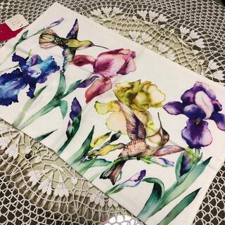 ザラホーム(ZARA HOME)のZARA  HOME ザラホーム クッションカバー フラワー 花 鳥(クッションカバー)