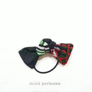 ミナペルホネン(mina perhonen)のハンドメイド リボンヘアゴム petalframe×タンバリン(ヘアアクセサリー)