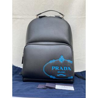 PRADA - プリントサフィアーノレザーバックパックpradaプラダ2VZ032ブラック黒