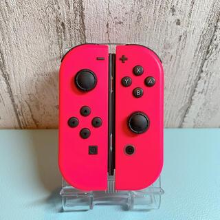 ニンテンドースイッチ(Nintendo Switch)の美品 希少カラー ネオンピンク Switch 左右セット ジョイコン(その他)