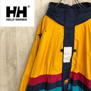 ヘリーハンセン(HELLY HANSEN)のヘリーハンセン ナイロンジャケット マウンテンパーカー イエロー ロゴ刺繍(マウンテンパーカー)