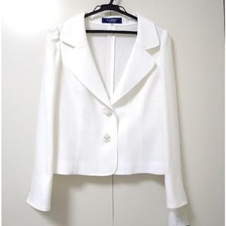 エムズグレイシー(M'S GRACY)のエムズグレイシージャケット新品未使用 春夏素材 白色ホワイト40 2020年(テーラードジャケット)