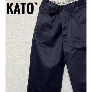 カトー(KATO`)のKATO` チノパン 紺色 S(チノパン)