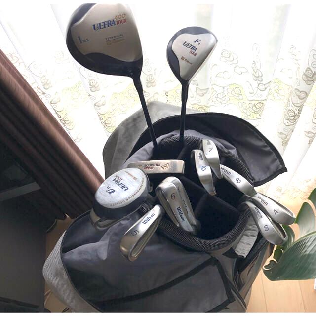 wilson(ウィルソン)のメンズ ゴルフ フルセットUSA Wilson +mizunoキャリーバック スポーツ/アウトドアのゴルフ(クラブ)の商品写真