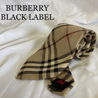 BURBERRY BLACK LABEL - 【高級】バーバリー ネクタイ シルク ノバチェック ベージュ