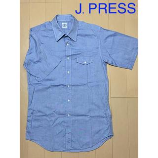 J.PRESS - J.PRESS/半袖シャツ(M)/ブルー系