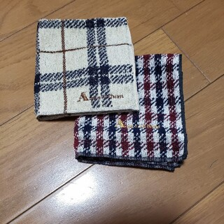 アクアスキュータム(AQUA SCUTUM)のアクアスキュータム タオルハンカチ2枚セット(ハンカチ/ポケットチーフ)