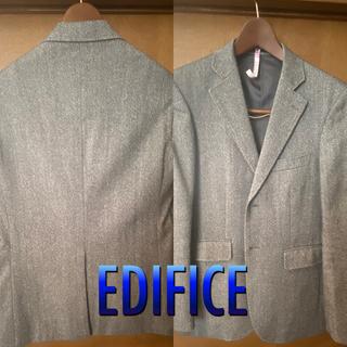 エディフィス(EDIFICE)のEDIFICE エディフィス ウールツイードジャケット 46(テーラードジャケット)