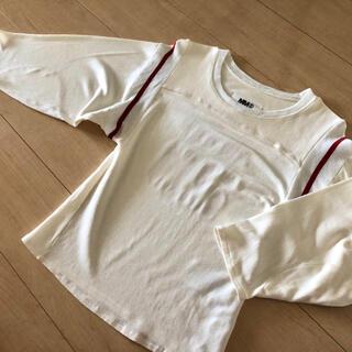 エムエムシックス(MM6)のMM6 maison marglera メゾンマルジェラ 袖7部丈 Tee  S(Tシャツ(長袖/七分))