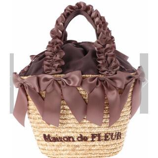 メゾンドフルール(Maison de FLEUR)のメゾンドフルール♡フリルハンドルリボンかごバッグ(かごバッグ/ストローバッグ)
