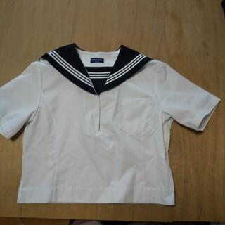 MICHEL KLEIN - セーラー服 165A 半袖 紺 白3本 かぶりタイプ 学校 制服