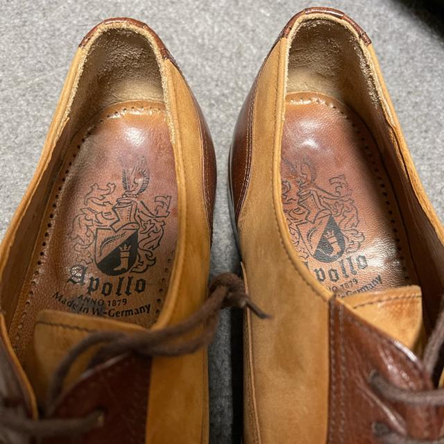 J.M. WESTON(ジェーエムウエストン)の♂アポロ ブラインドブローグ ヌバックコンビ 71/2 26 26.5 メンズの靴/シューズ(ドレス/ビジネス)の商品写真