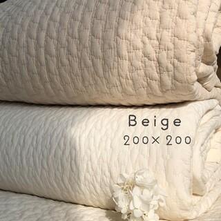 韓国イブル クラウド柄ベージュ お昼寝 ラグマット ベッドカバー 200×200