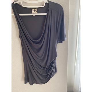 オート(HAUTE)のオートヒッピー アシンメトリーティシャツ(Tシャツ(半袖/袖なし))
