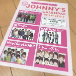 ジャニーズジュニア(ジャニーズJr.)の即購入OK❤︎カレンダー フライヤー 1枚 2011.4-2012.3(アイドルグッズ)