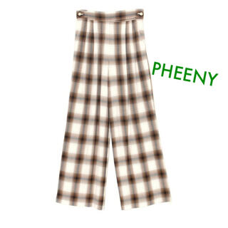 PHEENY - pheeny 【新品】 チェック パンツ スラックス ワイドパンツ