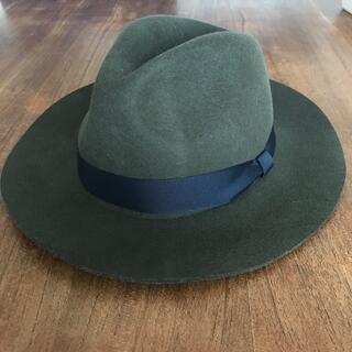 送料込み ヴィンテージ  ファーフェルト中折れ帽子ハット (ハット)