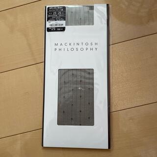 マッキントッシュフィロソフィー(MACKINTOSH PHILOSOPHY)の新品マッキントッシュ ハイソックス チャームグレー23-25(ソックス)