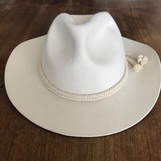 カシラ(CA4LA)の未使用ウールフェルト中折れ帽子ハット ウエスタン ステットソン ボルサリーノ(ハット)