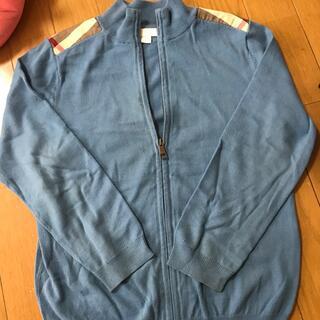 バーバリー(BURBERRY)のBurberry Children120 8Yセーター ジッパー付き 汚れあり(カーディガン)