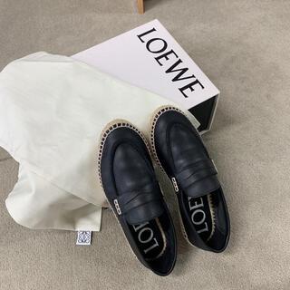 ロエベ(LOEWE)のLOEWE ローファーエスパドリーユ 22.5cm 値下げ(ローファー/革靴)