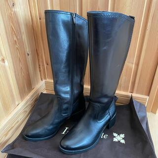 ジャンニバレンチノ(GIANNI VALENTINO)の新品 Giano Valentino レザーロングブーツ 黒(ブーツ)