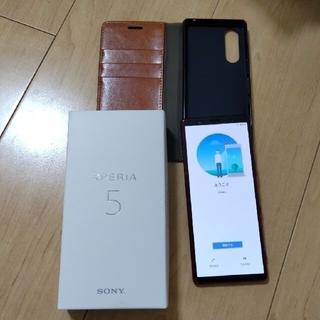 SONY - Xperia5 国内版simフリーj9260 レッド