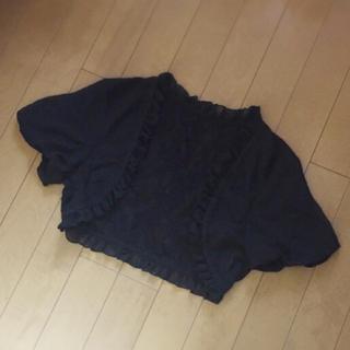シマムラ(しまむら)のシフォンレース半袖ショート丈ボレロ(ボレロ)