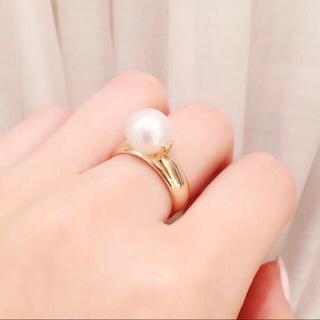 エナソルーナ(Enasoluna)のK10♡パール♡リング♡9号(リング(指輪))