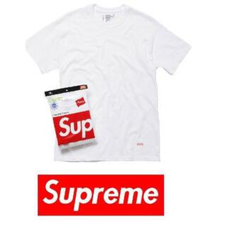 シュプリーム(Supreme)の【新品】Supreme シュプリーム ヘインズ 白Tシャツ メンズS 1枚単品(Tシャツ(半袖/袖なし))