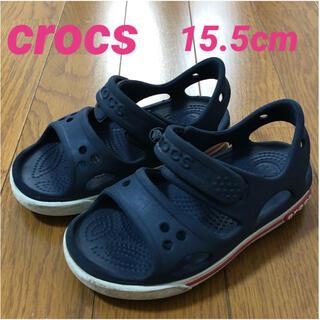 クロックス(crocs)のクロックス サンダル 【c8】15.5cm ネイビー(サンダル)