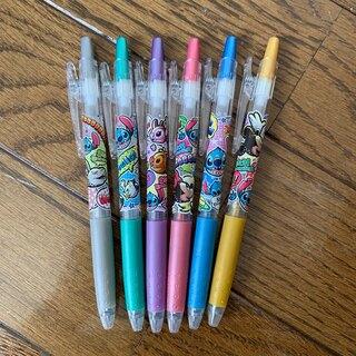 スティッチ(STITCH)のディズニー スティッチ カラーボールペン ラメ入り 6本(ペン/マーカー)