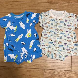 BREEZE - まとめ売り☆半袖ロンパース 4枚セット 60cm 赤ちゃん ベビー服