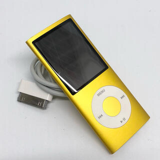 アイポッド(iPod)のApple iPod nano 第4世代 8GB イエロー MB748J/A(ポータブルプレーヤー)