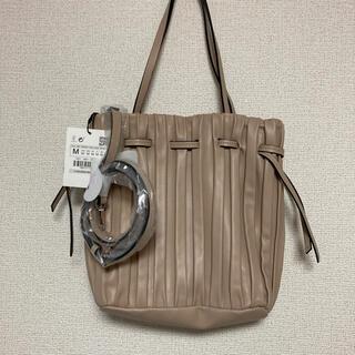 ザラ(ZARA)のZARA プリーツバッグ バケットバッグ 未使用 完売品(ショルダーバッグ)