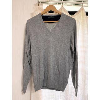 ザラ(ZARA)のセーター ニット メンズ ZARA ザラ グレー カジュアル 薄手(ニット/セーター)