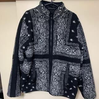 シュプリーム(Supreme)のsupreme Bandana Fleece Jacket Black L(ブルゾン)