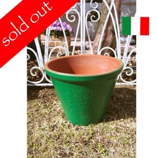 伊) 美グリーンのテラコッタ鉢(プランター)