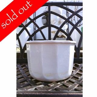 レトロ*12角形の白磁鉢 (プランター)