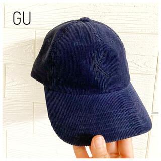 ジーユー(GU)のGU ジーユー キャップ 帽子 レディース ネイビー 紺(キャップ)