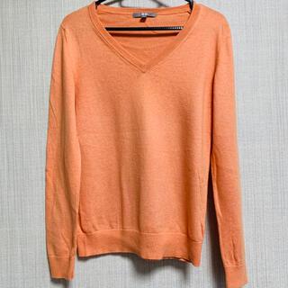 UNIQLO - ユニクロ UNIQLO オレンジ  セーター トップス  クルーネック 春
