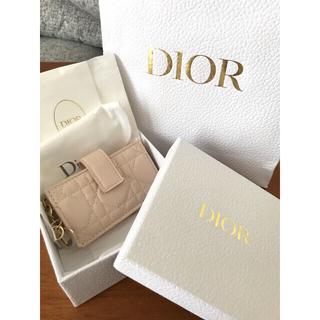 クリスチャンディオール(Christian Dior)の新品未使用☆LADY DIORカードホルダー☆カードケース☆ディオール☆ピンク(名刺入れ/定期入れ)