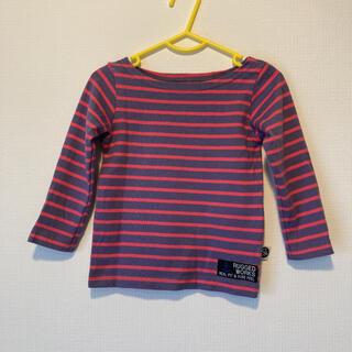 ラゲッドワークス(RUGGEDWORKS)のRUGGEDWORKSパープルピンクボーダーTシャツ90(Tシャツ/カットソー)