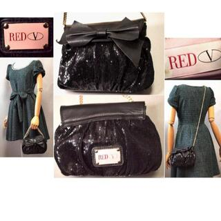 レッドヴァレンティノ(RED VALENTINO)のSALE❤️レッド ヴァレンティノ★リボンが可愛いバッグ黒(ショルダーバッグ)