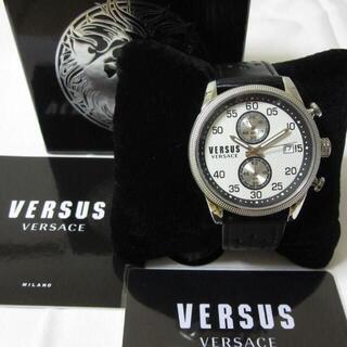 ヴェルサーチ(VERSACE)の新品 VERSUS VERSACE クロノグラフ メンズ腕時計 レトロクラシック(腕時計(アナログ))