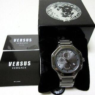 ヴェルサーチ(VERSACE)の新品箱入 VERSUS VERSACE メンズ腕時計 ウォッチ チタンカラー(腕時計(アナログ))